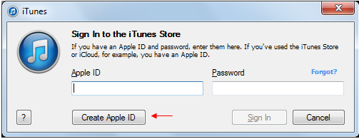 itunes home page login